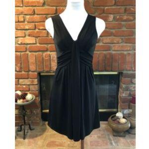 Vintage Ruched  Black Cocktail Dress